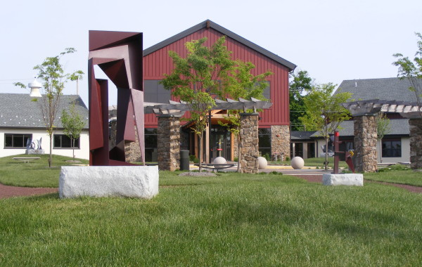 Montgomery County Community College Art Barn Sculpture Garden